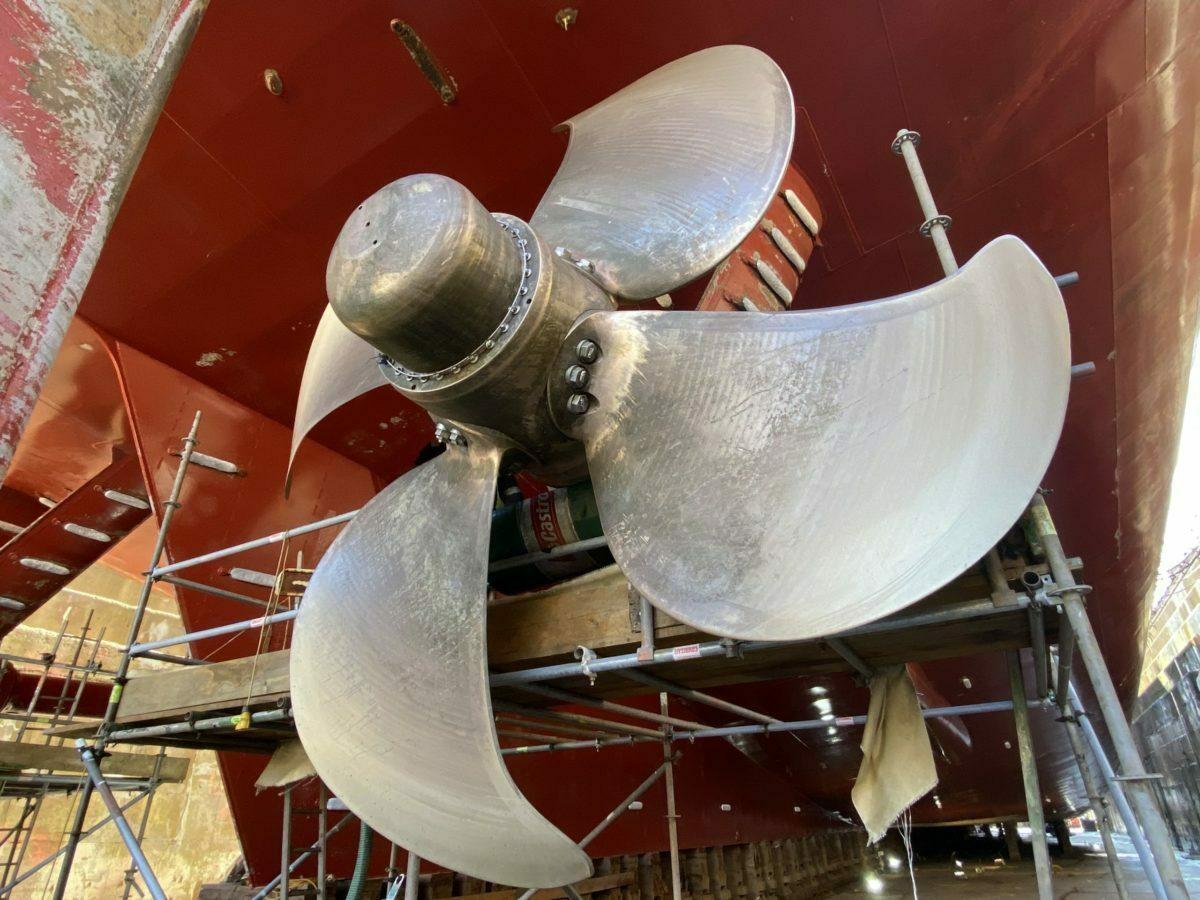 SMS Drydock - Propeller Repair
