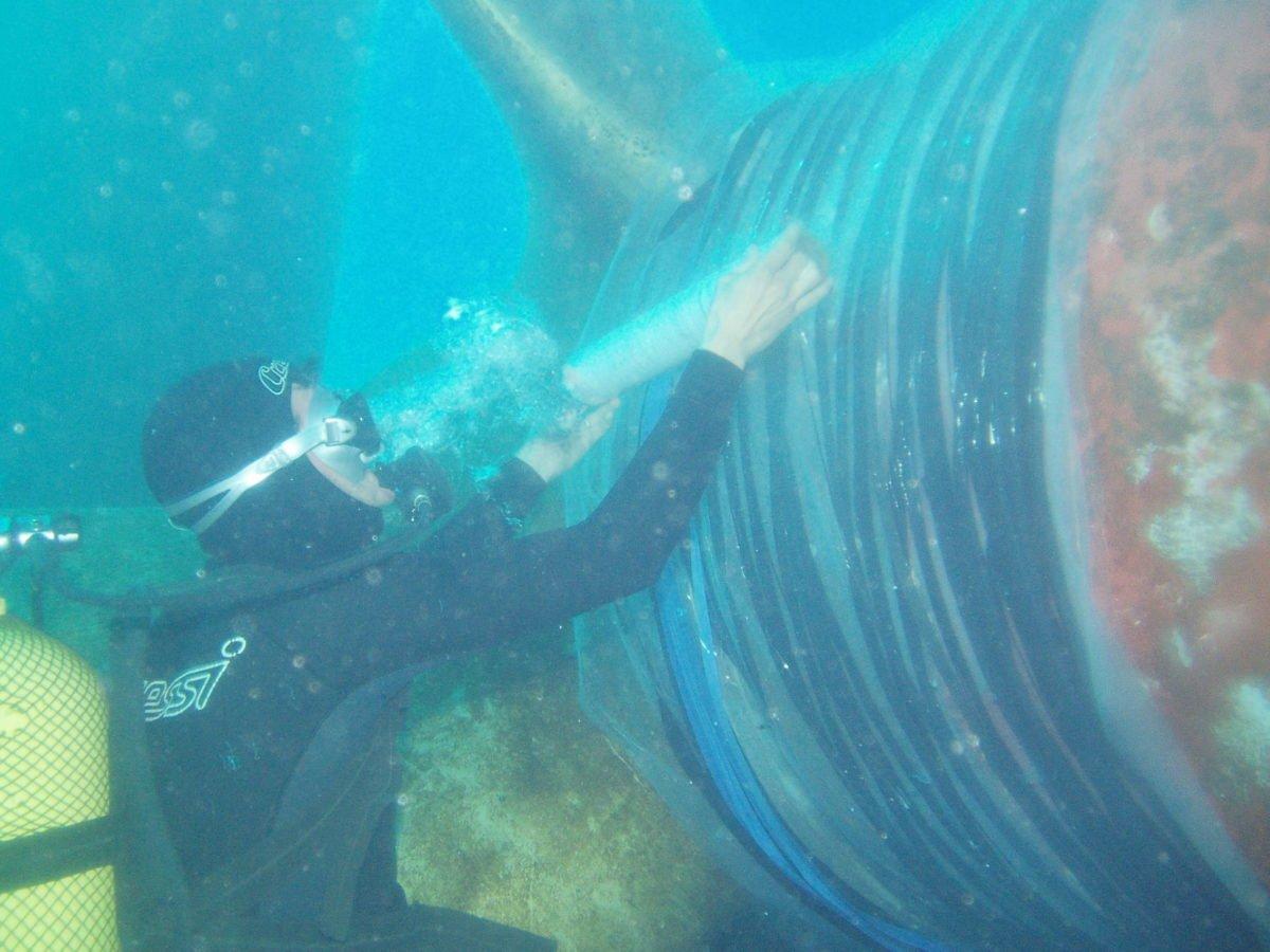 Divers Repair Vessel Leak