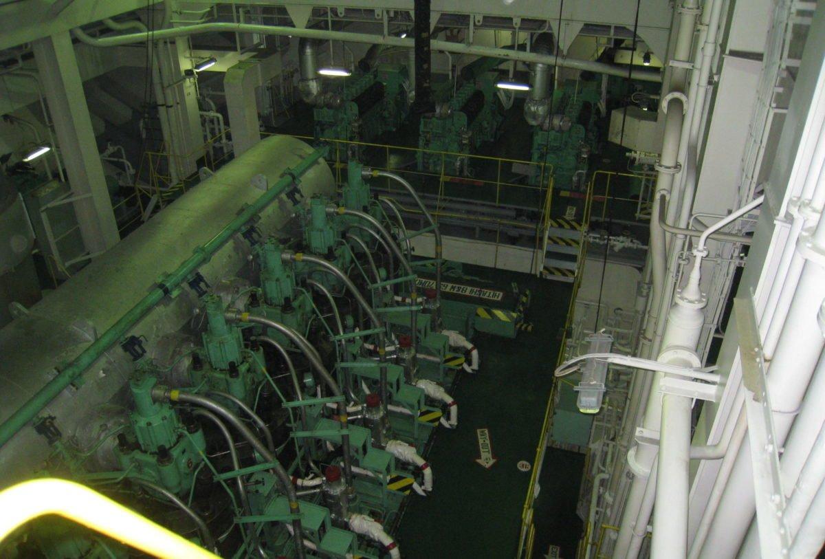 Emergency repair - ship engine room