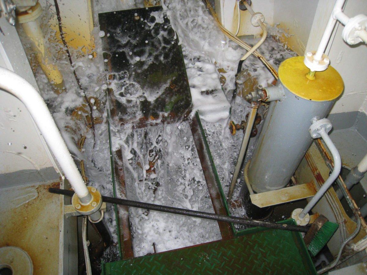 Water entering ship