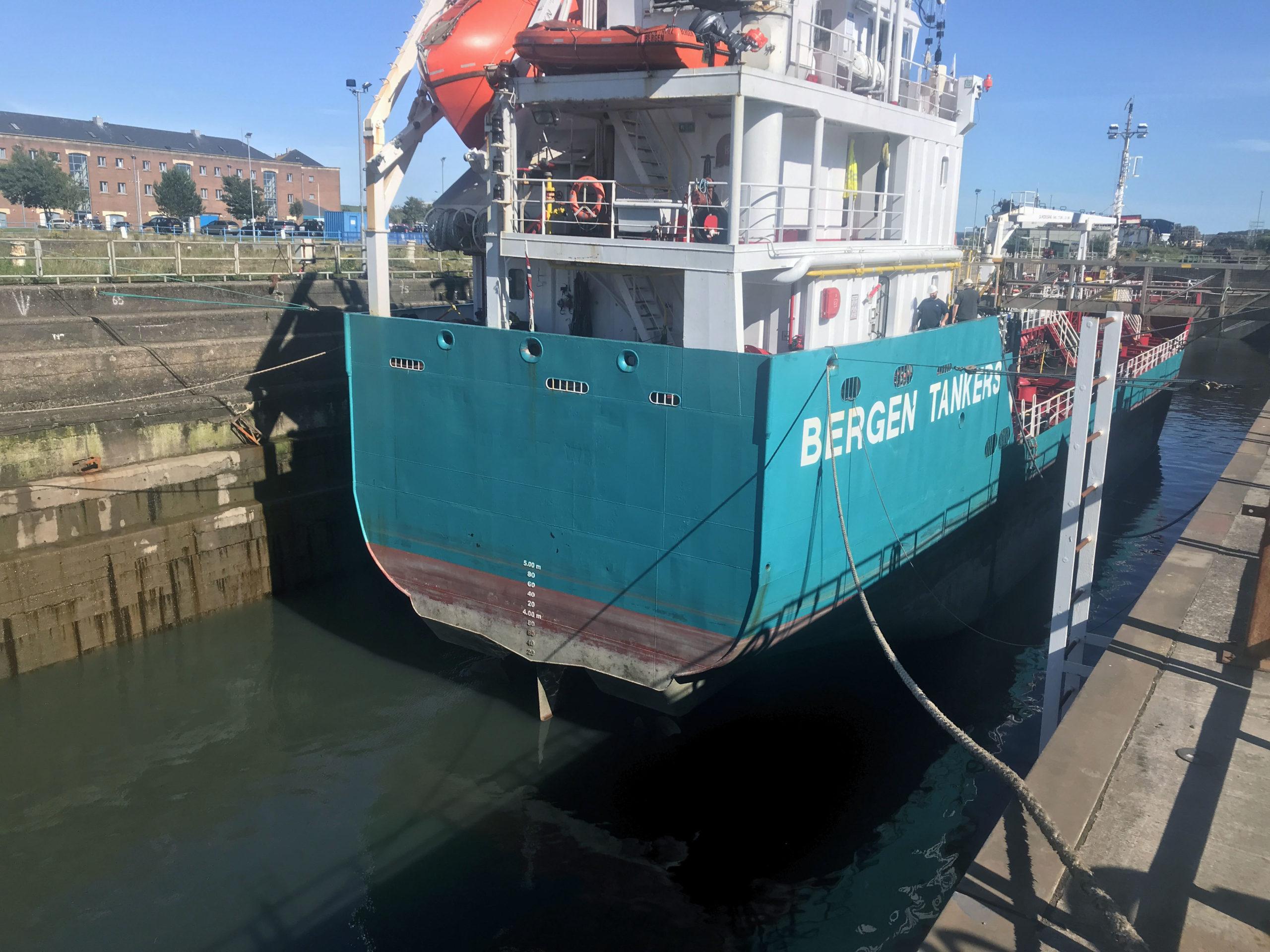 Vessel in drydock - gearbox overhaul