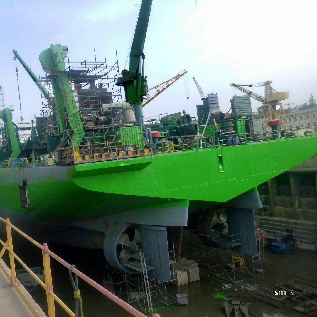 vessel in drydock getting repaired